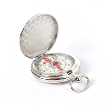 Vintage miedź odwróć metalowy zegarek kieszonkowy odwróć kompas Camping piesze wycieczki żeglarstwo morskie kompas survivalowy tanie tanio Wiszące pierścień typu zinc alloy Wskaźnik Wskazując przewodnik 5 8cm x 4 7cm compass Mountain-wspinaczka