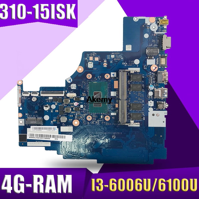 NM-A752 Laptop motherboard For Lenovo 310-<font><b>15ISK</b></font> <font><b>510</b></font>-<font><b>15ISK</b></font> original mainboard 4GB-RAM I3-6006U/6100U image