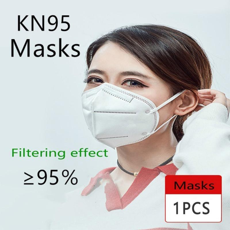 1pcs PM2.5 Multi-layers N95 Face Mask High Quality Anti-dust Anti-Pollution Mask N95 KN95 Mask FFP2 Mask Proof Face Mask