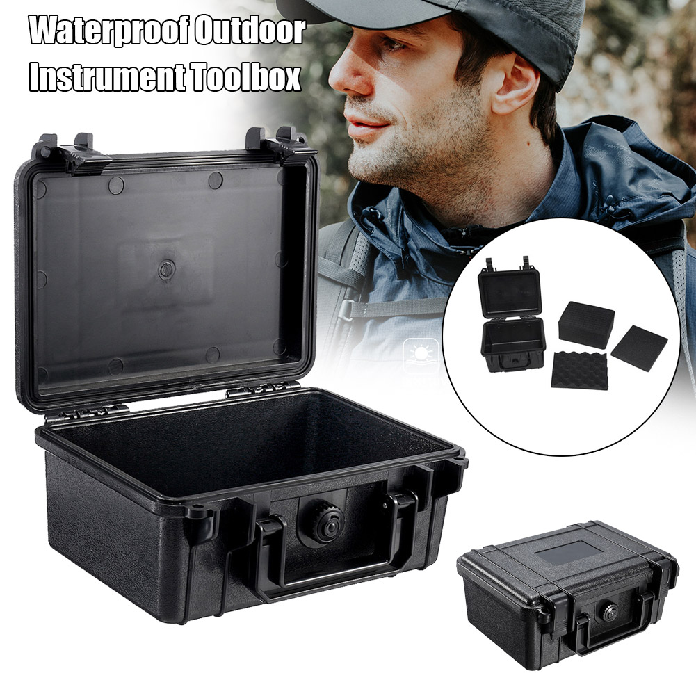 Waterproof Hard Carry Case Bag Storage Tool Protective Box For Camera Photography With Sponge QP2
