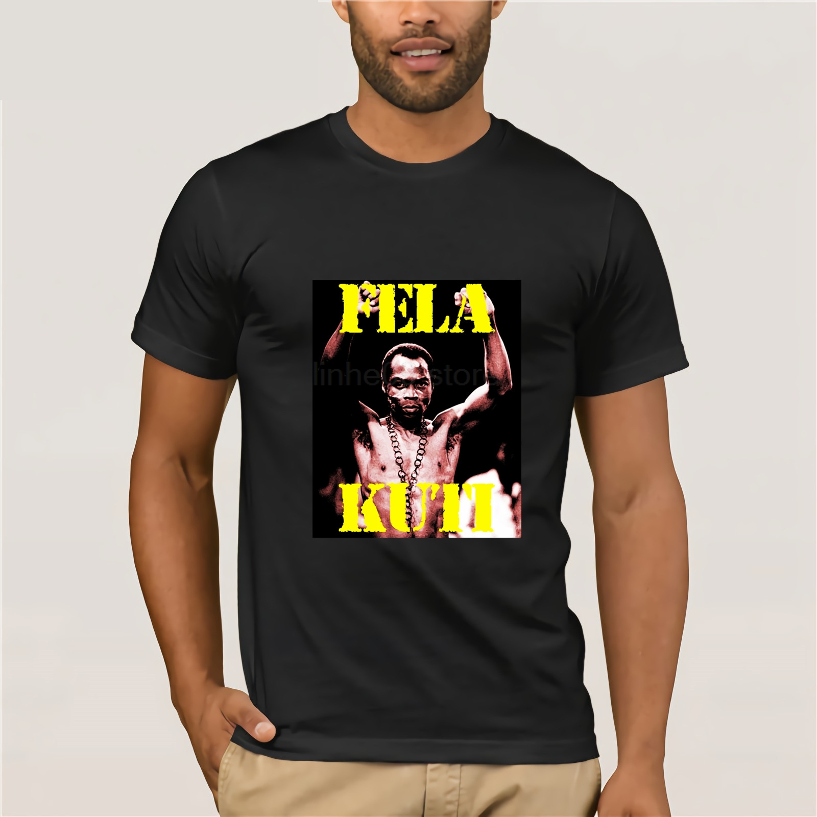Fela Kuti T-shirt,musician, composer the Afrobeat ,free delivery Print Tee Men Short Sleeve Clothing 2018 Latest image
