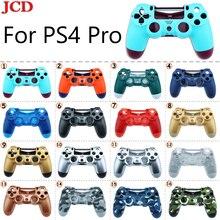 JCD חדש DIY עבור Sony PS4 פרו אלחוטי בקר פלסטיק עבור JDS 040 כיסוי קדמי חזרה שיכון Shell Case עבור SONY החלפה