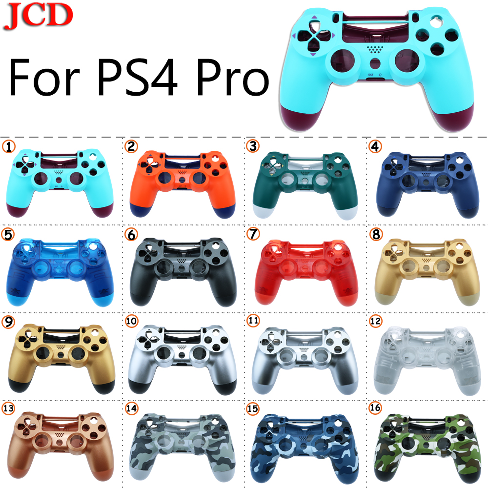 JCD New DIY  For Sony PS4 Pro Wireless Controller Plastic For JDS 040 Cover Front Back Housing Shell Case For SONY Replacement