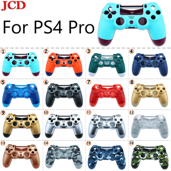JCD New DIY  For Sony PS4 Pro Wireless Controller Plastic for JDS 040 Cover Front Back Housing Shell Case for SONY Replacement front back cover replacement for symbol mc65 mc659b