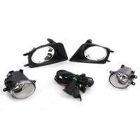Clear Fog Light Kit For Tacoma 12 15 w/Chrome Trim Black Bezel Switch Wiring Set