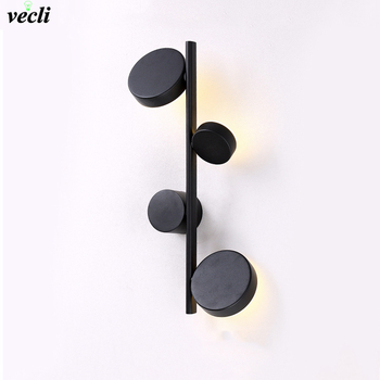 Modern Indoor Wall Sconce Lights Fixture Nordic Bedside wall Lamps Bedroom Living Room Lighting Hallway background Decor lamp nordic simple living room wall lamp bedroom bedside lighting creative aisle background crystal glass wall sconce light fixture