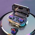 Оригинальные беспроводные Bluetooth наушники TWS, 9D стерео Hi-Fi гарнитура, светодиодный дисплей, шумоподавление, музыка, спортивные наушники для т...