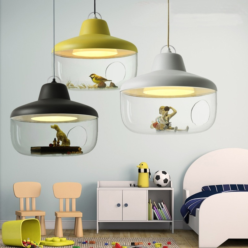 Scandinave minimaliste art concepteur magasin de vêtements buffet repas lustres bricolage dessin animé enfants chambre éclairage chaud
