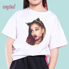 Ariana Grande Print Kids T Shirt Funny Vogue Girl Top Harajuku White Round Neck Short Sleeves Tees Boys Tshirt Teenager Shirt round neck cross print short sleeves t shirt for men