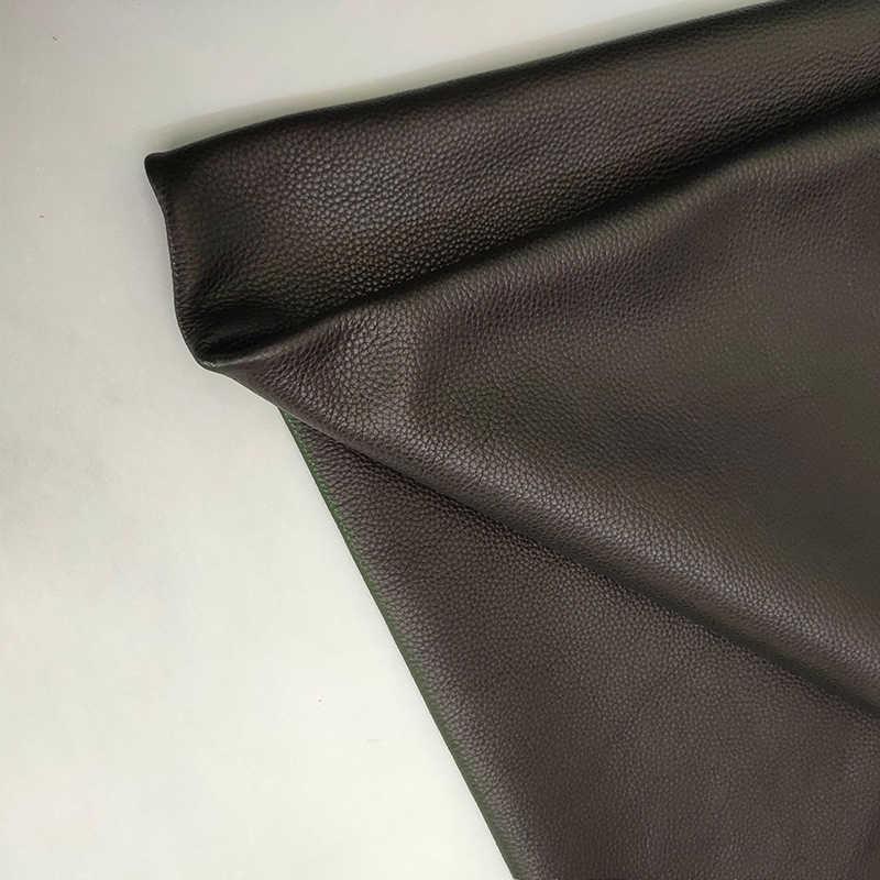 Primera capa italiana de cuero de vaca, patrón de lichi, varios colores de espesor de aproximadamente 1,24mm, cuero antiarrugas súper suave, Envío Gratis