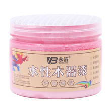 250g Pink Water-based Woodwork Paint Water-proof & Mildew-proof Lacquer for Wood,Fabric,Paper,Canvas,Hand-painted