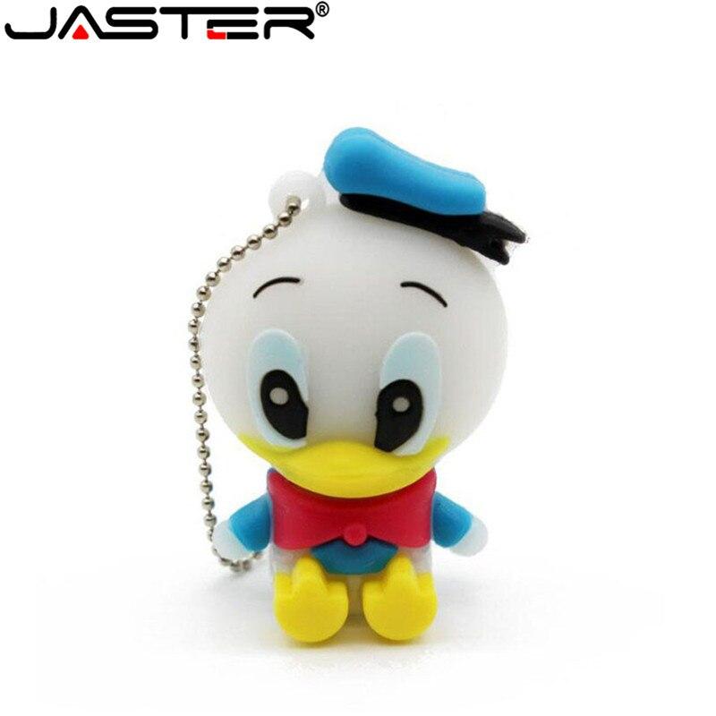 JASTER Cartoon 64GB Cute Duck USB Flash Drive 4GB 8GB 16GB 32GB Pendrive USB 2.0 Usb Stick