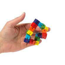 Yooap Color wooden cubes string twists and turns magic creative decompression children adults toys