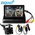Araba monitör 4.3 inç lcd ekran kablosuz dikiz kamera Video verici ve alıcı kiti ters kamera park sistemi