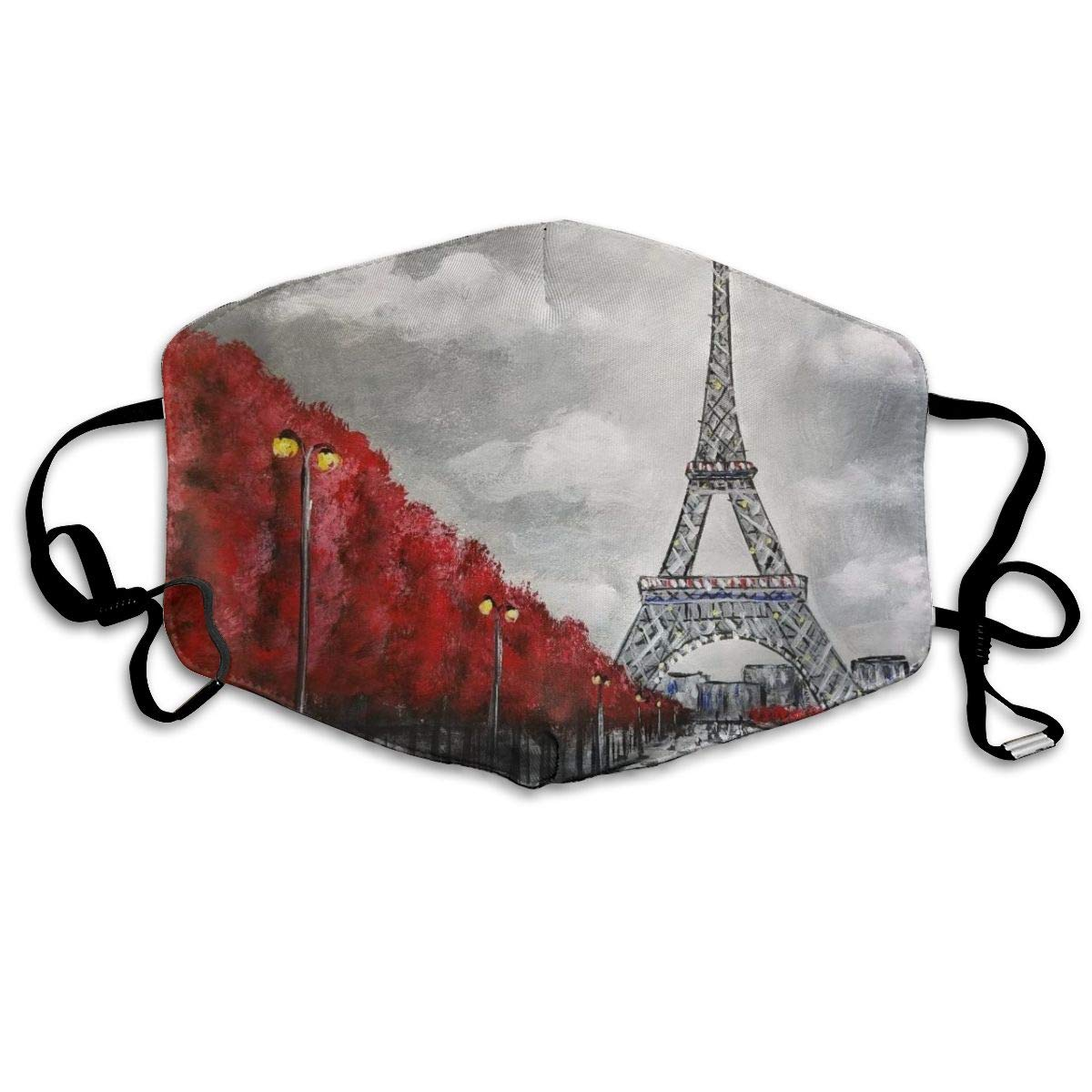 Mouth Mask Eiffel Tower Print Masks - Breathable Adjustable Windproof Mouth-Muffle, Camping Running For Women And Men