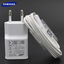 Originele Samsung Galaxy Fast Charger Adapter 9V 1.67A Eu Plug Quick Charge Micro Usb Kabel Voor S6 S7 Rand plus A10 C5 C7 C9 J6 +(China)