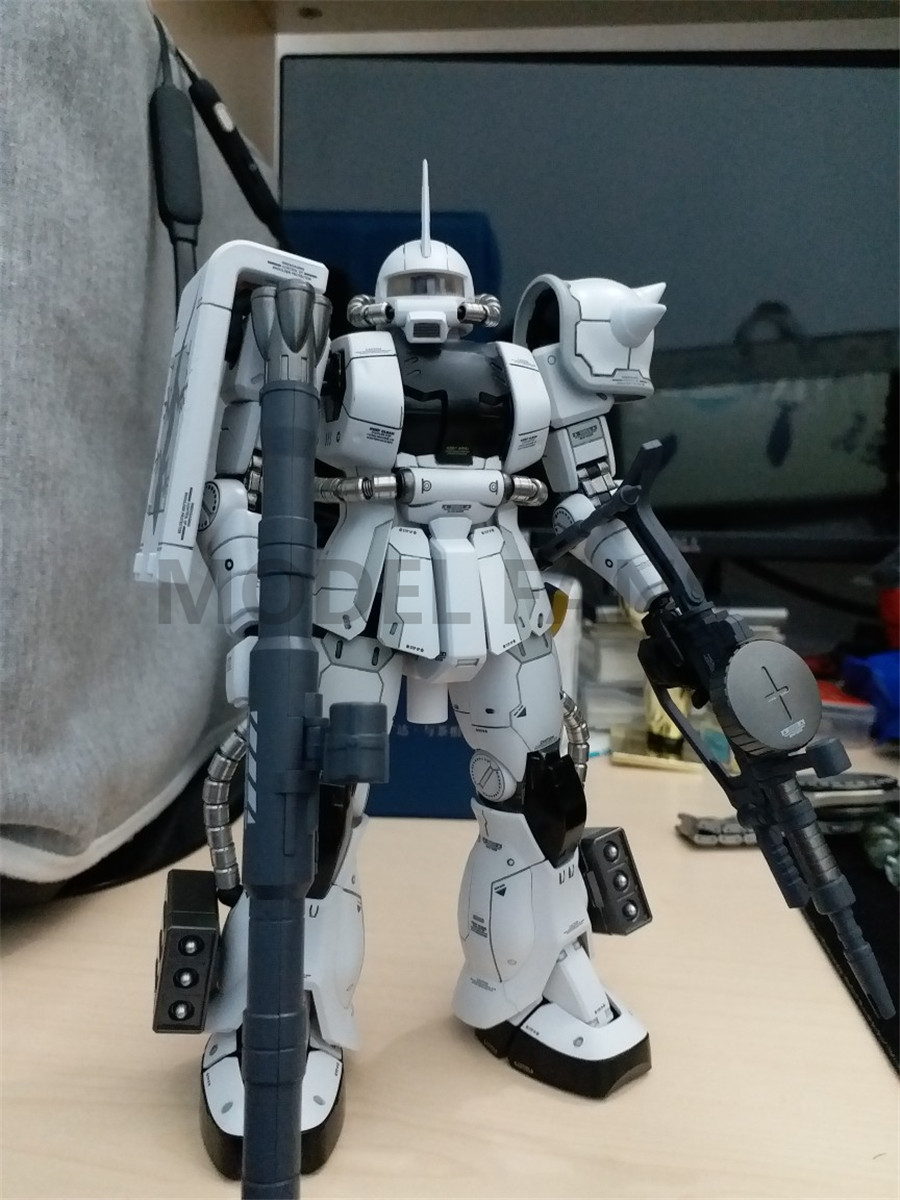 Image 4 - MODEL FANS in stock METAL SOLDIER metal build  MB gundam 1/100 WHITE WOLF zaku II alloy robot action figureAction & Toy Figures   -