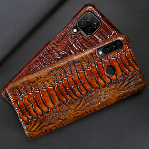 Image 2 - Leather Phone Case For Huawei Honor 30 30S X10 20 20i 10 10i 9 8 Lite 9X 8X Max 7X 7A V30 Pro V20 V10 Ostrich Foot Texture Cover