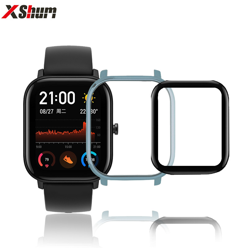 Amazfit GTS Case Protector With Film For Xiaomi GTS Glass Accessories Bumper Screen Protective Case For Amazfit GTS Protector