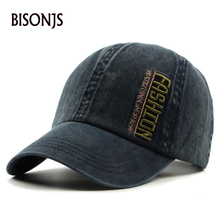 BISONJS 2020 New Outdoor Men Baseball Cap Women's Fashion Letters Embroidery Snapback Caps Summer Adjustable Breathable Sun Hats