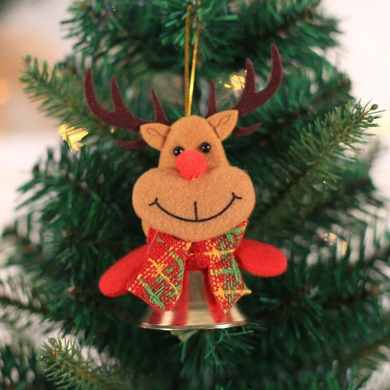 2020 Christmas Bell Ornament Christmas Bells Xmas Tree Hanging Doll Pendants Decorative Holiday