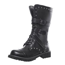Men Combat Boot Outdoor Cold-Proof Non-Slip Buckle Boot Winter Punk Snow Boots 2019 Hot Selling Support Wholesale Dropshipping(China)