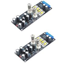 2pcs 6J1 Valve Pre-amp Tube PreAmplifier Assembled Board Audio DIY Vertical