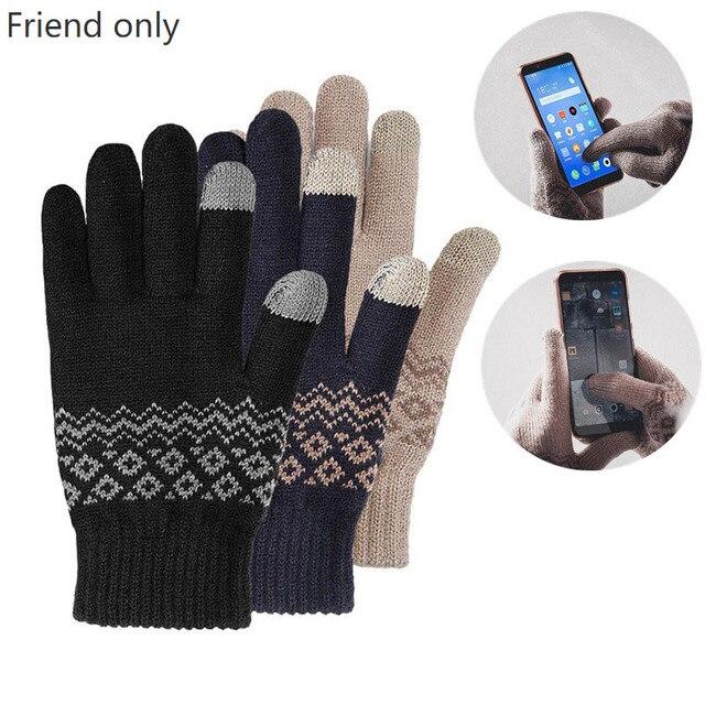 Original Youpin FO Finger Touch Screen Handschuhe für Frauen Männer Winter Warme Samt Handschuhe Für Telefon Tablet Geburtstag Weihnachten Geschenk