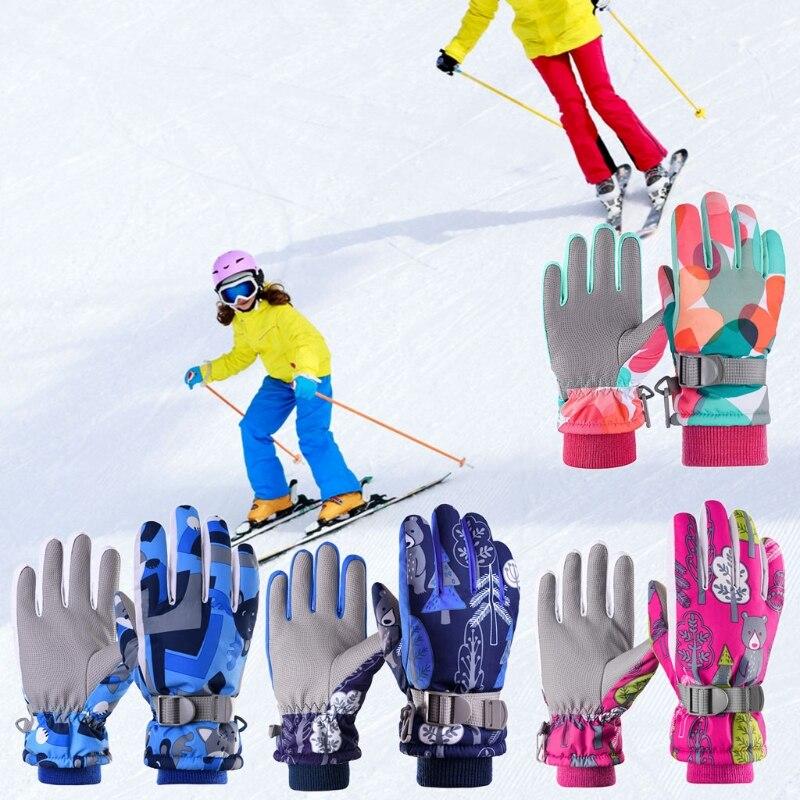 Pro Kids Ski Gloves Winter Warm Snowboard Snow Gloves Children Riding Waterproof