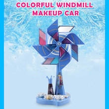 Disney Ice and Snow Colorful Windmill Makeup Box Pretend Play Set for Children Great Little Kids (Not Real Makeup)