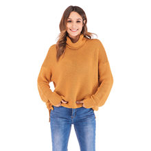 Women's Clothing Sweaters Turtleneck Crop Top Long Sleeve Women's Sweater Ladies Winter Woman Sweater Knitting Pullovers CS0970(China)