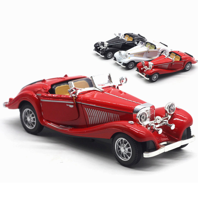 1:28 Alloy Car Model Simulated 500K Classic Car Convertible Children's Toy Car Model Decoration Pull Back Car Toys