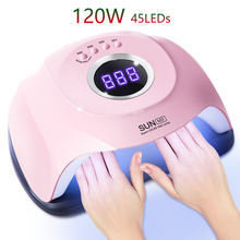 120 Вт Светодиодная УФ лампа для ногтей Электрическая Сушка