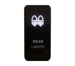 Image 2 - אחורי אורות לבן הוביל מתג 5 סיכות מוט יחיד יחיד לזרוק על/OFF עבור רכב סירה עמיד למים 12v/24v + Jumper חוטים סט