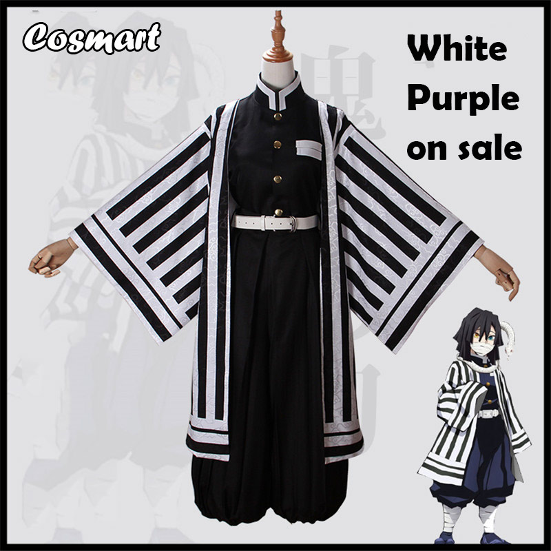 Anime Demon Slayer Kimetsu No Yaiba Iguro Obanai Cosplay Costume Battle Suit Team Uniform Kimono Halloween Costumes For Adult