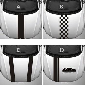 OLOMM New Cool Car Sticker Reflective Auto Head Decoration Vinyl Decal WRC Stripe Stickers Accessories