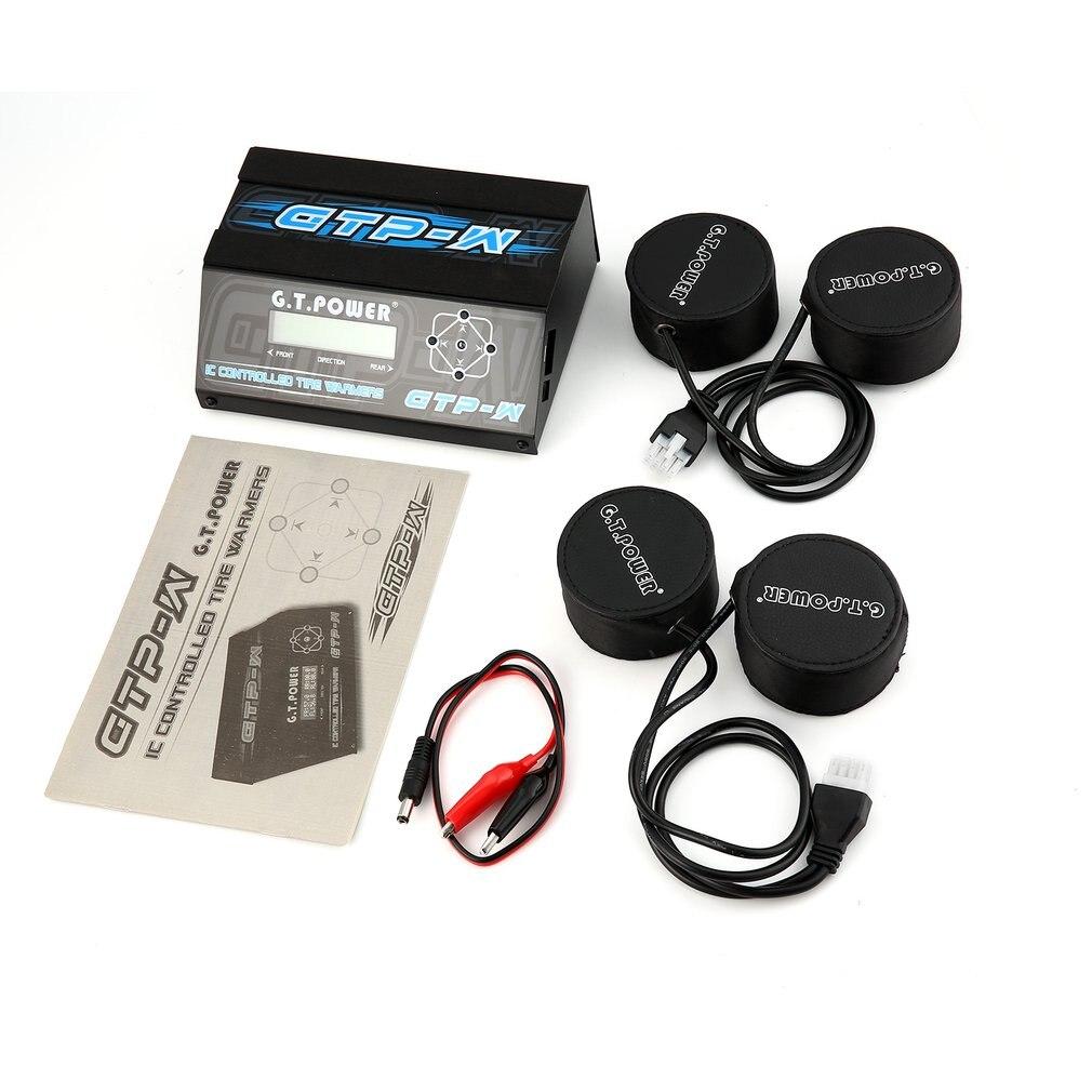GTP-W IC température contrôlée pneu réchauffeur bandes tasse chauffage avec écran LCD pour 1/10 taille Touring voiture en caoutchouc pneu pièces de rechange