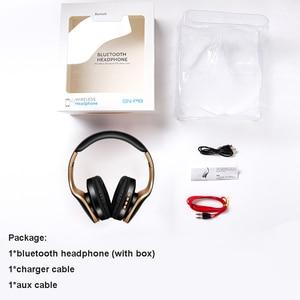 Image 5 - Casque sans fil casque Bluetooth sur loreille stéréo basse écouteur pliable réglable écouteurs de jeu avec micro pour téléphone PC
