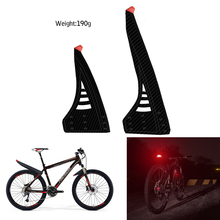 Latest bicycle fenders Carbon twill plastic Reflective sticker set bike mudguard rear front wing for Accessories