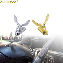 ZORBYZ Universal Motorcycle Alloy Front Fender Eagle Head Scooter Mud Guard Ornament For Harley Chopper Bobber Custom