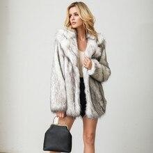 Женская верхняя одежда, зимние пальто, куртки, модная однотонная верхняя одежда, искусственный мех, кардиган, свободный, отложной карман, женское теплое пальто F40