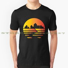 Catan Synthwave - Board Game Inspired Graphic - Tabletop Gaming - Bgg Black White Tshirt For Men Women Eurogame Meeple Board(China)