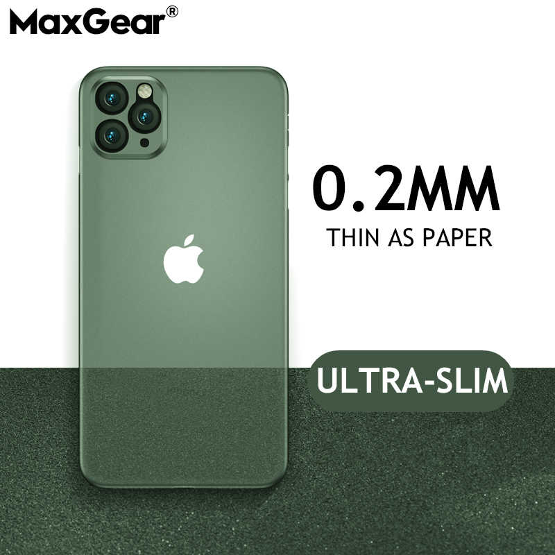 Capa de plástico macia ultrafina para iphone, capa de 0.2mm para iphone 11 pro x xr xs max matte pp, tampa traseira para iphone se 2 6 6s 7 8 plus iphone11