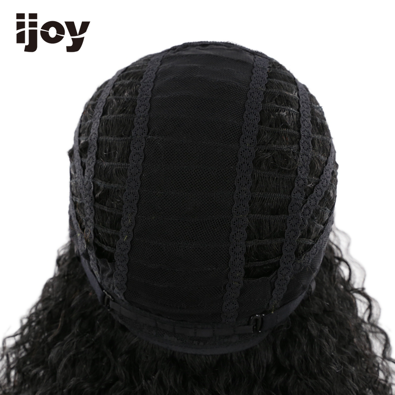 Afro Human Hair Wig 18 inches 110g Natural Color 100% Human Hair Lace Frontal Wig Remy Hair Free Shipping IJOY - 3