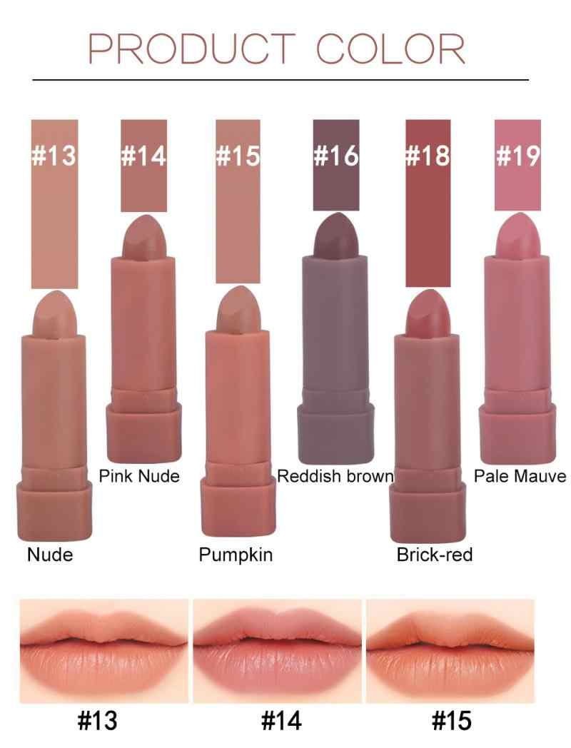 Kürbis matte lippenstift 6 Farben lippenstift set maquillaje lippen make-up Long Lasting nude lippenstift maquillaje mujer maquillage TSLM1