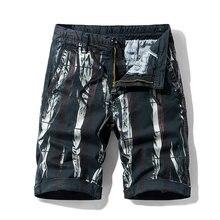 Homens carga shorts nova camuflagem tático shorts de algodão solto trabalho casual curto bolso masculino shorts