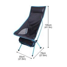 Outdoor Portable Folding Chair Maximum Load Of 150kg Ultralight Travel Fishing Camping Chair Picnic Home Seat Moon Chair 캠핑의자 cheap CN(Origin) Metal Aluminum 105x70x55cm Beach Chair S1018 8249 D01 Outdoor Furniture Modern Camping Home Fishing BBQ Picnic Beach