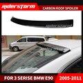 Глянцевый спойлер Blcak из углеродного волокна для крыши праймер AC Тип hamman стиль багажник спойлер крыло для BMW 2005-11 E90 3 серии седан