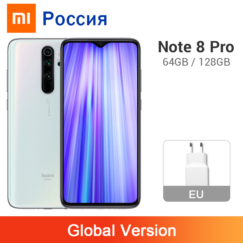 Global Version Xiaomi Redmi Note 8 Pro 6GB 64GB / 128GB 64MP 4 Cameras 4500mAh MTK Helio G90T NFC Mobile Phone Liquid Cooling(China)