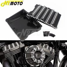 CNC Motorcycle Black/Chrome Top Rocker Box Cover Case for Harley Touring Electra Glid Dyna Fat Bob Softail Twim Cam 1999-2017 цена 2017